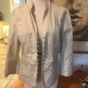 Unlined cotton poplin blazer